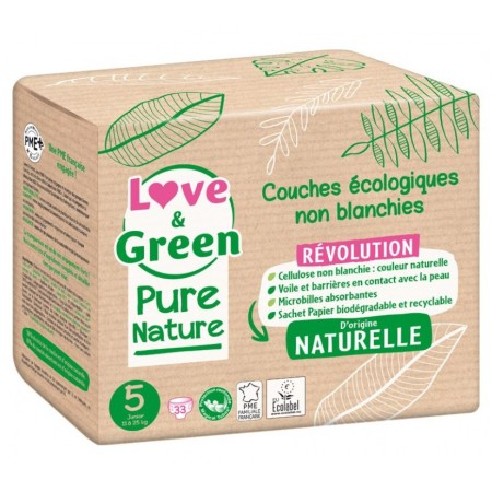 Couches écologiques Love and green Pure nature taille-5