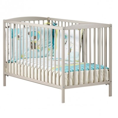Lit bébé (120 x 60) Baby Price à barreaux taupe new Basic