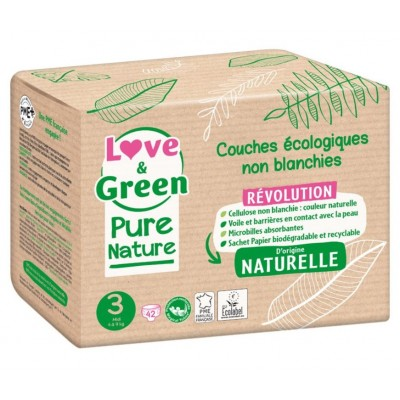 Couches écologiques Love and green Pure nature taille-3