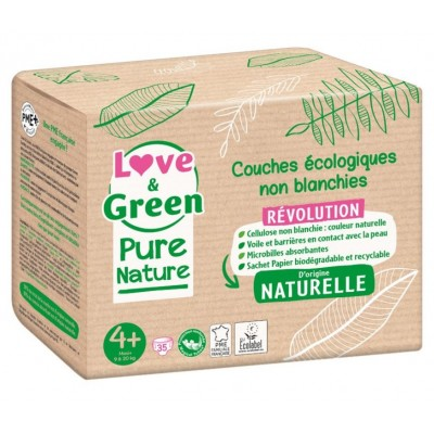 Couches écologiques Love and green Pure nature taille-4+