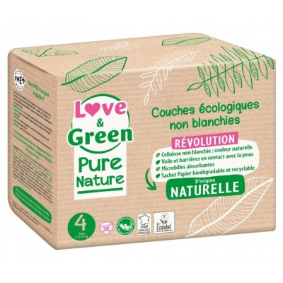 Couches écologiques Love and green Pure nature taille-4