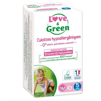Couches Culottes écologiques Love and Green hypoallergéniques taille-5
