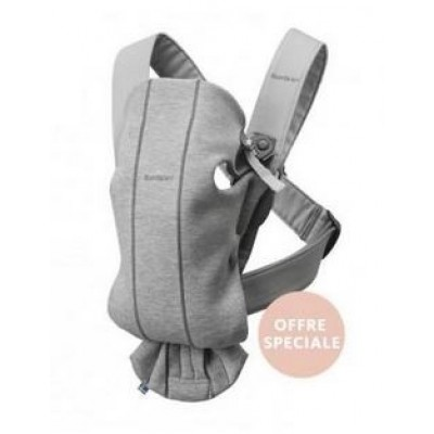 Porte-bébé Babybjorn Mini Baby Carrier light grey 3D Jersey