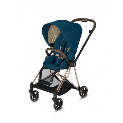 Poussette Cybex Mios 2020 Mountain Blue Châssis Rosegold